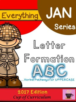 Everything JAN Series...Letter Formation {UPPERCASE}