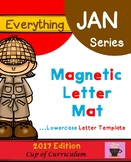 Magnetic Letter Template LOWERCASE