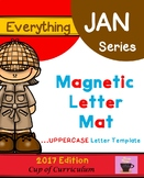 Magnetic Letter Template UPPERCASE