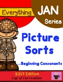 Picture Sorts for Beginning Consonants