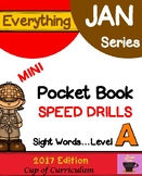 Everything JAN Series...Pocket Book Speed Drills {Level A}