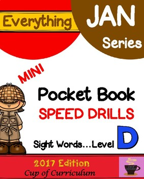 Pocket Book Speed Drills {Level D}