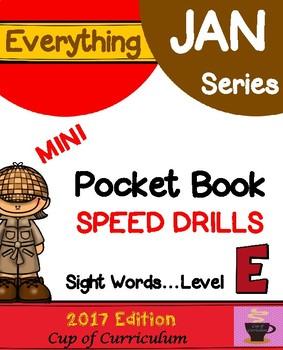 Everything JAN Series...Pocket Book Speed Drills {Level E}