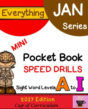 Everything JAN Series...Pocket Book Speed Drills {Levels A-I}
