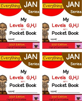 Everything JAN Series...Pocket Book Speed Drills {Levels GHI Set 1}