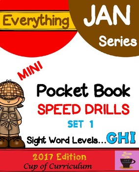 Everything JAN Series...Pocket Book Speed Drills {Levels GHI Set 1}