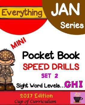 Everything JAN Series...Pocket Book Speed Drills {Levels GHI Set 2}