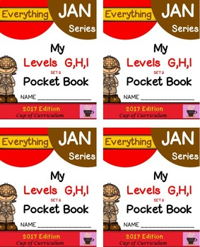 Everything JAN Series...Pocket Book Speed Drills {Levels GHI Set 2}