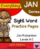 Everything JAN Series...Sight Word BUNDLE