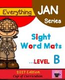 Everything JAN Series...Sight Word Mats Level B