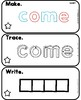 Sight Word Mats Level C