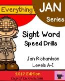 Sight Word Speed Drills {Jan Richardson Levels A-I}