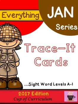 Trace It Cards {Levels A to I} Color Version