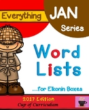 Everything JAN Series...Word Lists for Elkonin Boxes