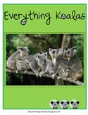 Everything Koalas - Math and Literacy Skills for k-3 & australia study