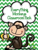 EDITABLE Everything Monkeys Classroom Decor GROWING Pack