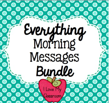 Everything Morning Messages Bundle {Community Building Prompts}