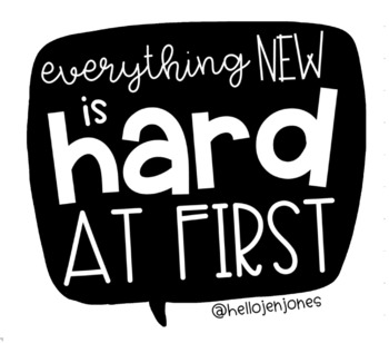 Everything New Is Hard At First Poster