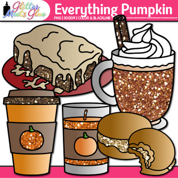 Everything Pumpkin Clip Art {Fall Graphics for Halloween and Thanksgiving}