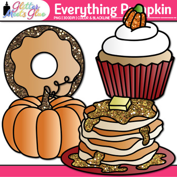 Everything Pumpkin Clip Art | Fall Graphics for Halloween and Thanksgiving