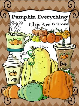 Pumpkins Clip Art Bundle(Fall/Autumn clipart)By JellyJams~Free til Thanksgiving!