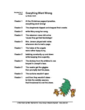 Readers Theatre: Everything Went Wrong - a Christmas Script