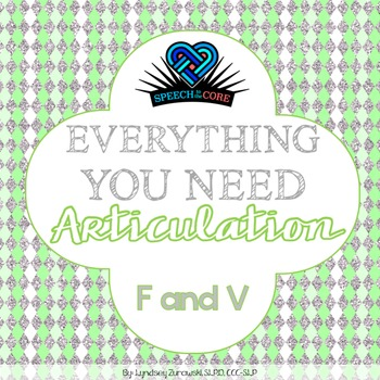 Everything You Need! Articulation F and V Blends