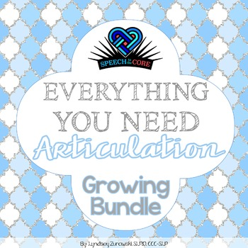 Everything You Need! Articulation Growing Bundle