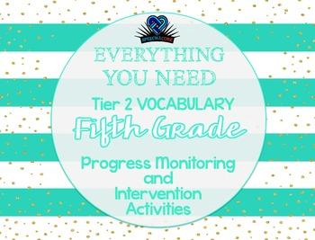 Everything You Need! Fifth Grade Tier 2 Vocab Progress Mon