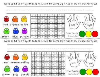 Everything You Need Name Tag Alphabet, 0-100, left/right, colors, finger tapping