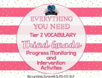 Everything You Need! Third Grade Tier 2 Vocab Progress Mon