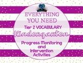Everything You Need! Kinder Tier 2 Vocab Progress Monitoring & Intervention