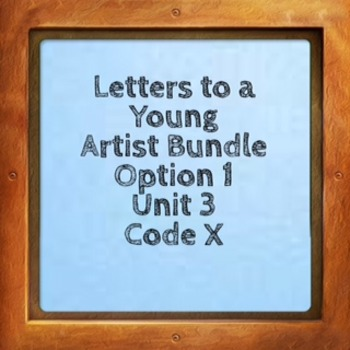 Everything You Need To Teach Letters to a Young Artist Bundle Option 1 Code X