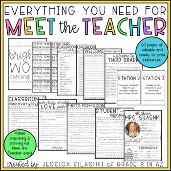 Everything You Need for Meet the Teacher! (EDITABLE)