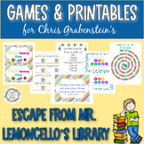 Games & Printables to Celebrate  'Escape from Mr. Lemoncello's Library'