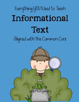 Learning to Write About Informational Text aligned with the Common Core