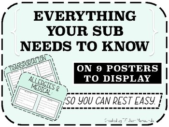 Everything Your Sub Needs To Know On 9 Posters- Mint Green