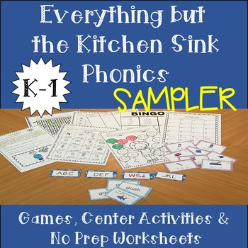 Everything but the Kitchen Sink Phonics Sampler