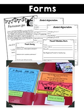 Open House Packet for Back to School