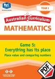 Everything has its place – Place value and comparing numbers – Year 1