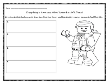 Everything is awesome when you're part of a team: team building