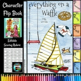 Everything on a Waffle Character Flip Book, Scoring Rubric, Planner