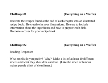 """""""Everything on a Waffle"""", by P. Horvath, Project Challenges"""
