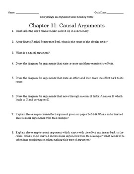 Everything's an Argument Ch. 11 Close Reading Notes