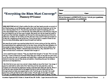 """""""Everything that Rises Must Converge"""" by Flannery O'Connor: Annotation Organizer"""