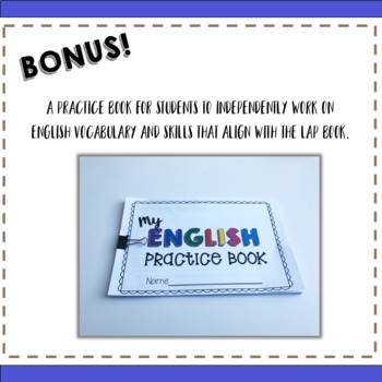 Everything you Need for ELL Newcomers {Essential Words Lap Book}