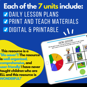 ELL Newcomers Curriculum { ELL Resources | ESL Newcomers Activities}