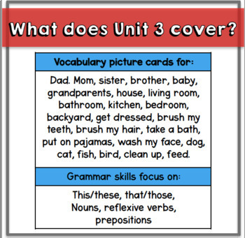 Everything you Need for ELL Newcomers {Unit 3}