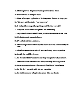 Everything you learned about Commas is LIES worksheet students LOVE!