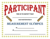 Everything you need for Measurement Olympics!